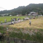 宮崎市高岡町飯田地区 お米の収穫体験のお手伝い