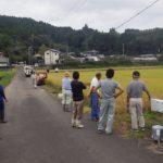 宮崎市高岡町飯田地区 お米の収穫体験のお手伝い その2