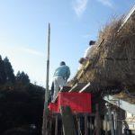 「茅の葺き替え作業」その2~宮崎県都城市高崎町笛水地区~